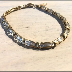 10kt Yellow Gold Diamond Bracelet